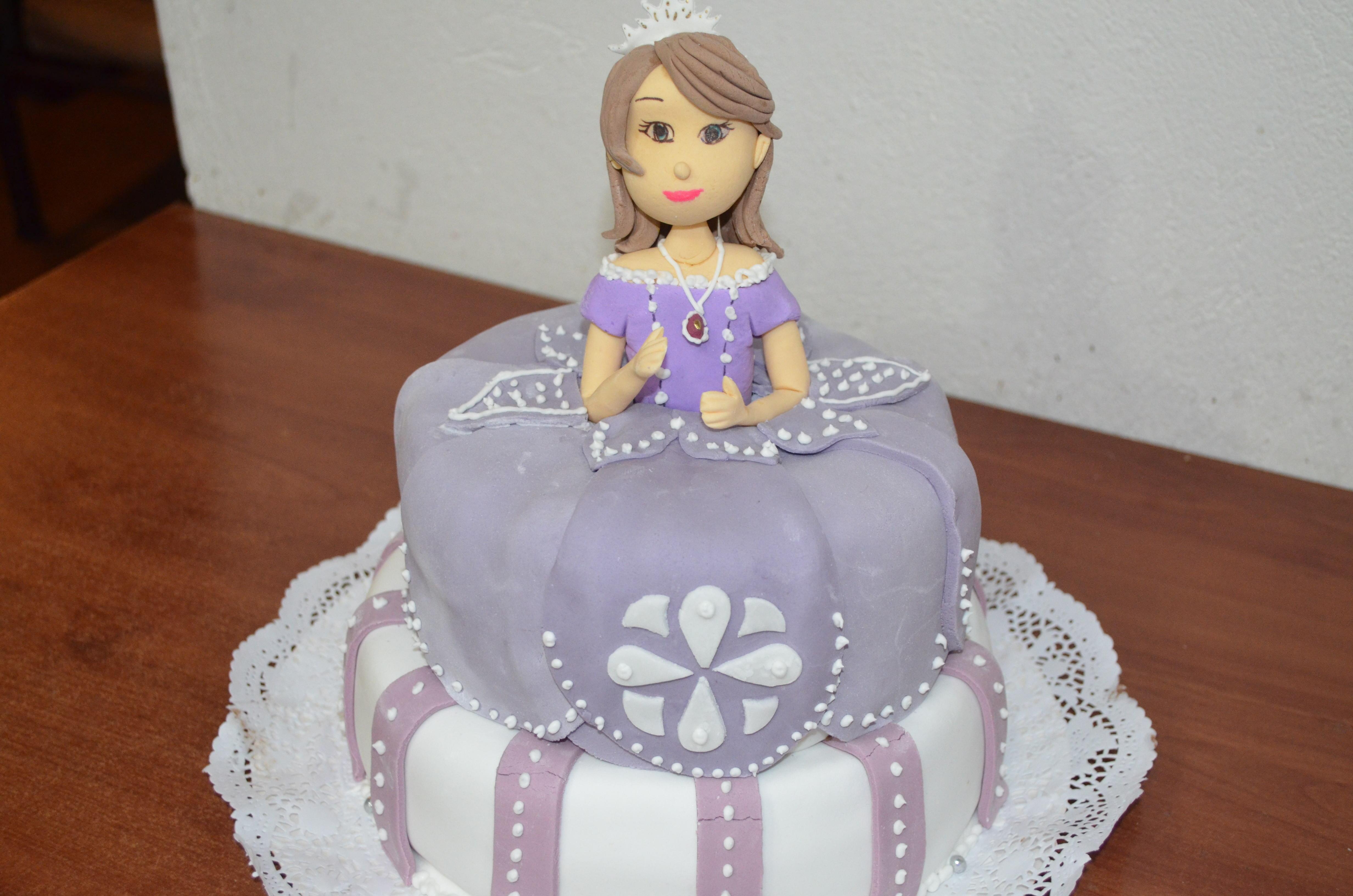 Torta Princesa Sofia De Fondant Pastillaje Para Cumpleaños Pictures
