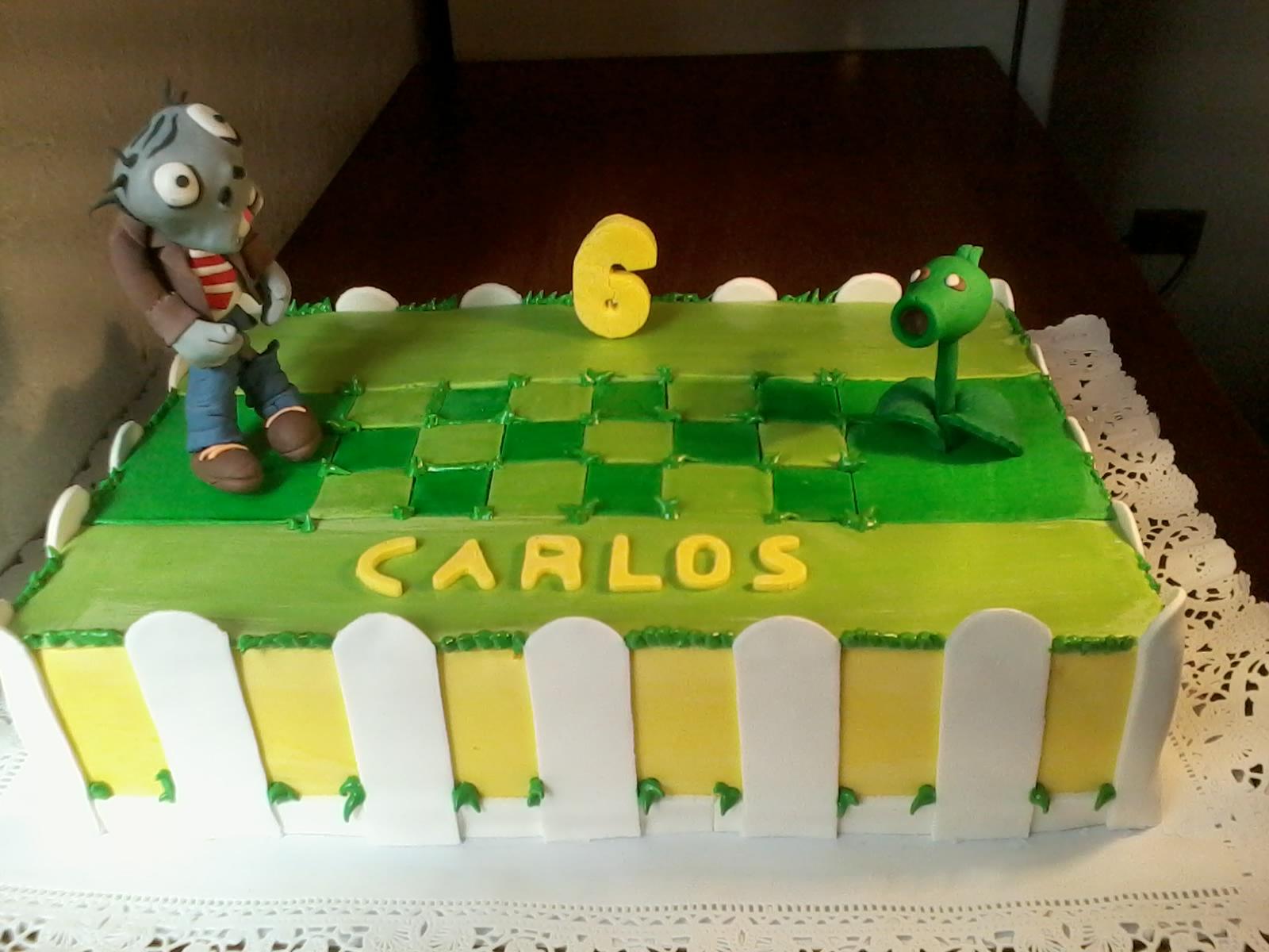 Tortas pasteler a consistorial for Cuartos decorados de plants vs zombies